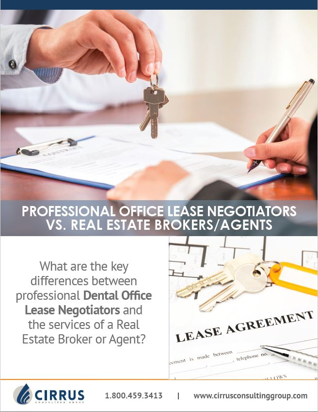 Dental Office Lease Negotiators vs. Brokers & Real Estate Agents - What's the Difference?